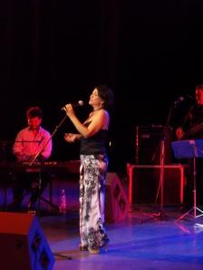"""La versión provincial del """"Boleros de Oro"""" en Cienfuegos recién concluyó con un concierto único de la cantante Ivette Cepeda en el teatro """"Tomás Terry"""". / Foto: De la autora"""